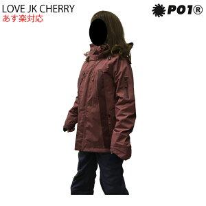 PO1 プレイデザイン LOVE JACKET ラブ ジャケット レディース 18-19 スキー スノーボード ウェア ジャケット CHERRY XSサイズ
