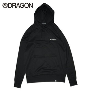 DRAGON ドラゴン BASIC BONDING PULLOVER メンズ レディース 21-22 パーカー プルオーバー フーディー 撥水 BLACK Mサイズ Lサイズ