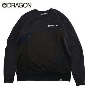 DRAGON ドラゴン BASIC BONDING CREW メンズ レディース 21-22 クルーネック スウェット スエット トレーナー 撥水 BLACK Lサイズ