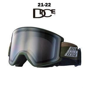DICE ダイス SHOW DOWN ショーダウン メンズ レディース 21-22 スノーボード スキー ゴーグル 平面レンズ フォトクロミック 調光 OLV(277) PHOTOCHROMIC/ULTRA LIGHT GRAY/LIGHT SILVER MIRROR SD1457OLV
