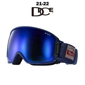 DICE ダイス BANK バンク メンズ レディース 21-22 スノーボード スキー ゴーグル 球面レンズ 偏光 ポラライズド NAV(104) POLARIZED GRAY/MIT BLUE BK00893NAV