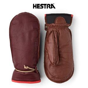 HESTRA ヘストラ 30721 Wakayama Mitt ワカヤマ ミット メンズ レディース 21-22 スキー スノーボード 手袋 グローブ 革 レザー ミトン Bordeaux/Brown 590750 7サイズ