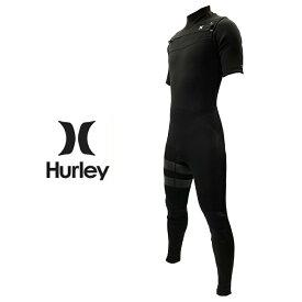 HURLEY ハーレー ADVANTAGE PLUS 3/2MM SHORT SLEEVE FULL SUIT MZSGAD20 アドバンテージ マックス 3mm2mm メンズ ウェットスーツ ショートスリーブ フル チェストジップ シージップ BLACK 010 Mサイズ MLサイズ Lサイズ XLサイズ