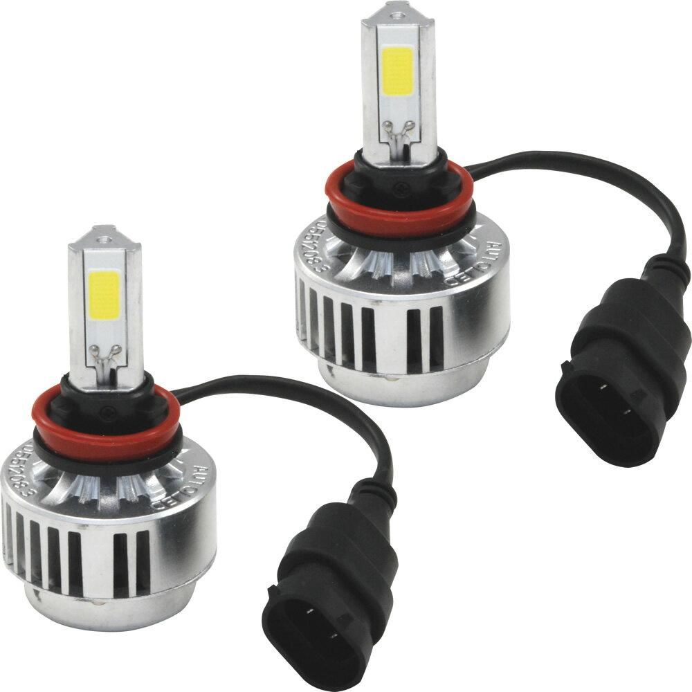 【瞬間起動】3面LED発光型J10 デュアリス [H19.5〜]ビースト LEDフォグランプ H11【ピュアホワイト/ビーストイエロー】12V 36W ワンタッチ式 フォグライト