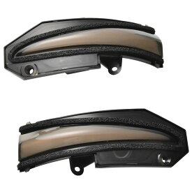流れる LEDシーケンシャルウインカー ドアミラー ZRR/ZWR80系 VOXY ヴォクシー 左右セット スモークレンズ ウインカーミラー