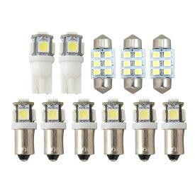 E51 エルグランド [H14.5-H22.7] 純正球交換型 極LEDルームランプ 【11点セット】