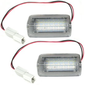 GRS210/AWS210 クラウンロイヤル H24.12- トヨタ汎用 LED ドアカーテシランプ ドア足元灯 左右セット Assy 赤白 点滅 純正品番81230-48020