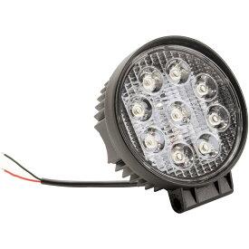 LED ワークライト 丸型 9連 27W 作業灯 照明 路肩灯 12V車/24V車 バックランプ フォグ 防塵 防水 2400ルーメン