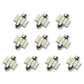 10個セット●● 12V車用★★SMD 16連 T10×31mm LED 電球 ルームランプ ホワイト