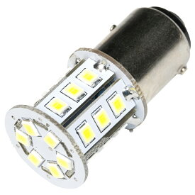 12V 24連 S25 ダブル LED 球 白 ホワイト ブレーキ テールランプ BAY15d 1157 ピン角 180度 段違い