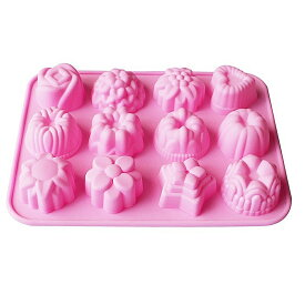 シリコン型 シリコンモールド お菓子 型 チョコ 星 花 ハート レジン 石鹸 デコ弁 製菓 かわいい