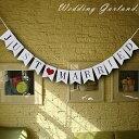 ウエディングガーランド 結婚式 飾り 記念写真 JUST MARRIED 写真 前撮り 記念撮影 フラッグ