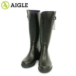 エーグル エーグランティーヌ ロング ラバーブーツ レインブーツ 長靴 黒 ブラック レディース AIGLE 85879