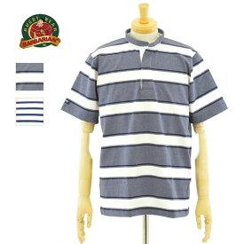 バーバリアン ラガーシャツ 8ozライトウエイトコットン ボーダー ヘンリーネック 半袖 メンズ BARBARIAN 【RSE-17】【RSE-19】