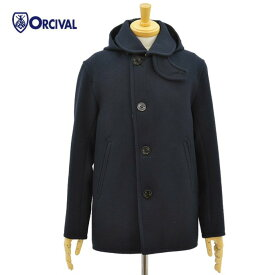 オーチバル・オーシバル ジーロンラムズメルトン ラウンドカラー コート ジャケット ネイビー メンズ ORCIVAL RC-8357MGL