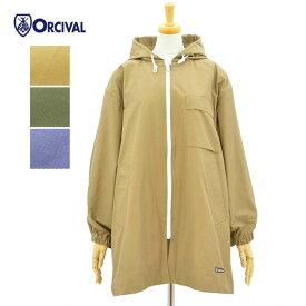 オーチバル・オーシバル フーデッド コート 60/40クロス ベージュ オリーブ フェイドブルー レディース ORCIVAL RC-8055NNC