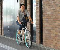 【送料無料】クロスバイクスタンド自転車26インチ当店人気自転車通販シマノ6段変速TOPONE自転車カギライト付スポーツバイクアウトドアクロスバイクおすすめMCR26602P03Dec16