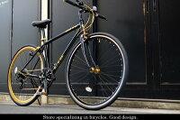 【送料無料】クロスバイク700Cスタンド軽量アルミ製シマノ7段プレゼントに最適LIGMOVE自転車