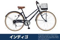 【送料無料!】シティサイクル自転車26インチシマノ6段変速カゴカギライト標準装備シティサイクルママチャリ入学式や新生活にいかがですか【自転車じてんしゃzitennsya】楽天自転車通販