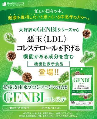 GENBIコレステげんびコレステ60粒ティーバッグ機能性表示食品(届出番号E800)ダイエット美容サプリ悪玉コレステロールを下げるLDL
