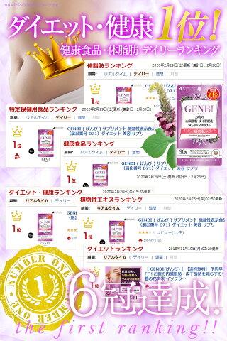 GENBI(げんび)サプリメント機能性表示食品(届出番号D71)ダイエット美容サプリ