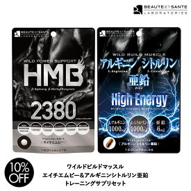 HMB 2380 & アルギニン シトルリン 亜鉛 サプリメント セット HMBCa BCAA 筋トレ トレーニング サプリ