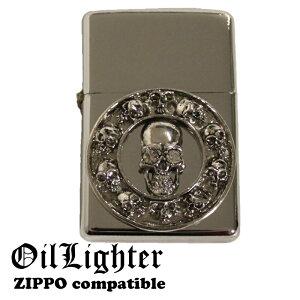 スカル SKULL ドクロ メタルジャケット オイルライター ジッポー用外装ケース ZIPPO zippo ジッポー ジッポ 互換商品 ケース