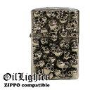 スカル SKULL ドクロ シルバー メタルジャケット メタル オイルライター ライター ジッポー用外装ケース ZIPPO zippo …