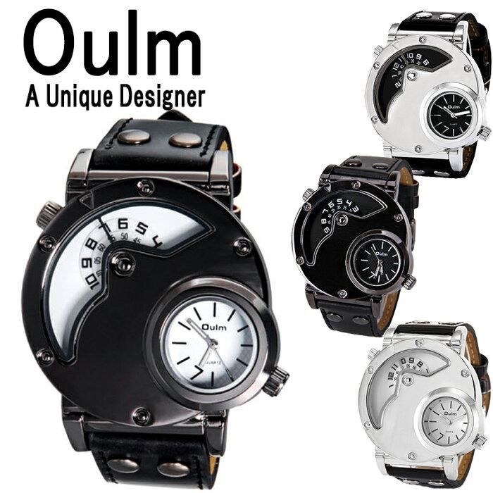 3f72b06e01 楽天市場】送料無料 Oulm 腕時計 メンズ 防水 日本製ムーブメント ビッグ ...