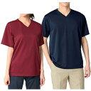 4.4オンスドライVネックTシャツ[医療 病院 ナース 看護 看護師 介護 保育士 女性 男性] 【アンファミエ infirmiere】 …