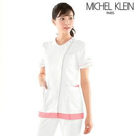 [ミッシェルクラン]レディース裾配色前開きジャケット