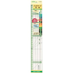 クロバー パッチワーク定規 カラーライン30cm 57-926