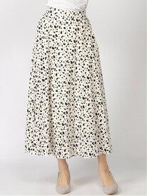 [Rakuten Fashion]【SALE/59%OFF】ダルメシアン柄/SK INGNI イング スカート フレアスカート ホワイト ブラック ブラウン【RBA_E】