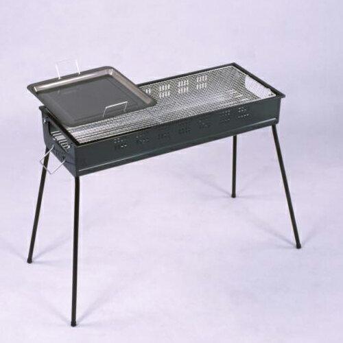 【グリーンライフ】バーベキューコンロ(グリル)CBN-800焚き口付で楽々炭足し!鉄板焼きと網焼きが同時に!