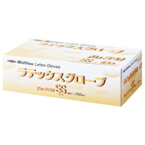 共和 ミリオン ラテックスグローブ No.220 パウダーイン SSサイズ LH-M654-SS 1箱(100枚入)(使い捨てグローブ)使い捨て 手袋 食品衛生法基準適合品 清潔