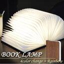 折りたたみ式 ブック型ランプ(本型ライトのLEDライト照明)マイクロUSB付・化粧箱入り(木製)バッグに入れて持ち運び可能な本型テーブルランプ 逃げ恥 風
