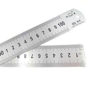 スチール 直定規 100cm裏面インチ表記 長い定規 物差し ものさし 1m