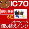 詰め替えインクEP社IC6CL70カートリッジリセッター