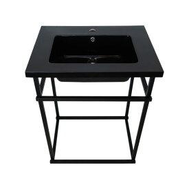 組立式洗面台 アイアン 人工大理石 おしゃれ 黒 ブラック W600×D455×H815 | 品番INK-04130056Hset-2