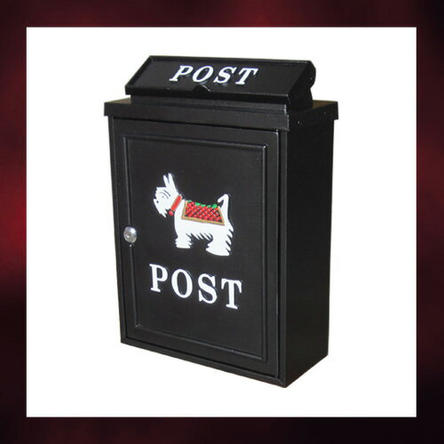 アンティークポスト (アイアンポスト・メールボックス・郵便受け・犬) INK-1501030H