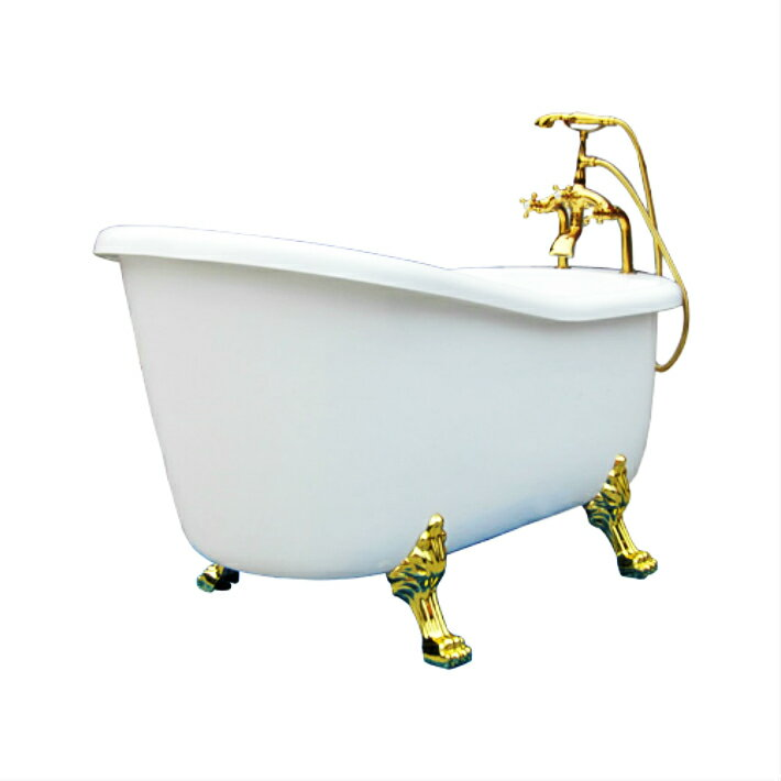 (Type Place, Antique Bathtubs And Display With Karan Shower Head) A Clawfoot  Tub