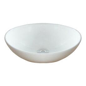小さい洗面ボウル 手洗器 陶器 省スペース トイレ用 置き型 オーバーフロー無し W410×D330×H145 INK-0405027H(a090e)