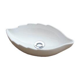 小さい洗面ボウル おしゃれ 陶器 手洗い鉢 オーバーフロー無し W410×D230×H105 INK-0405038H