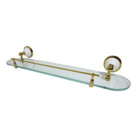 ガラスシェルフ(ウォールシェルフ・ガラス台・棚)金・ゴールド+陶器 INK-0801041H(INK-BEKW8060)