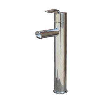 个子高的单人操纵杆混合栓(水龙头、漂亮的洗脸、摩登、水循环)银、银子INK-0303098H(ATTA1801)