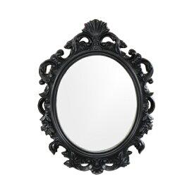 鏡 ミラー 洗面鏡 壁掛け フレーム付き PVC 黒 ブラック W700×H930×T45 INK-0701014H