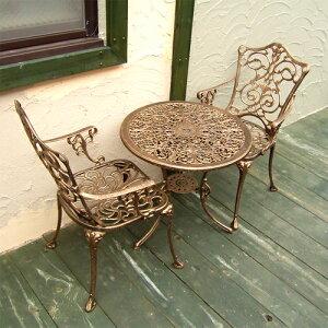ガーデンテーブルセット アイアン 組立て式 アンティーク風 レトロ おしゃれ chtablset001