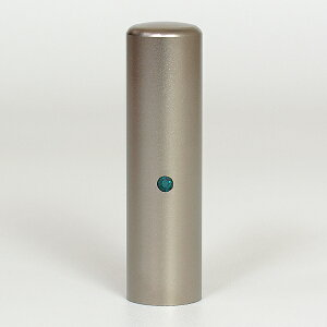 個人印鑑・認印・ジュエリーチタン(スワロフスキーアタリ付)・エメラルド・印面直径約16.5mm×長さ約60mm・ケース別売り