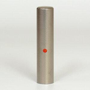 個人印鑑・認印・ジュエリーチタン(スワロフスキーアタリ付)・サン・印面直径約13.5mm×長さ約60mm・ケース別売り