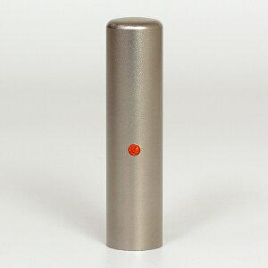個人印鑑・認印・ジュエリーチタン(スワロフスキーアタリ付)・サン・印面直径約15mm×長さ約60mm・ケース別売り